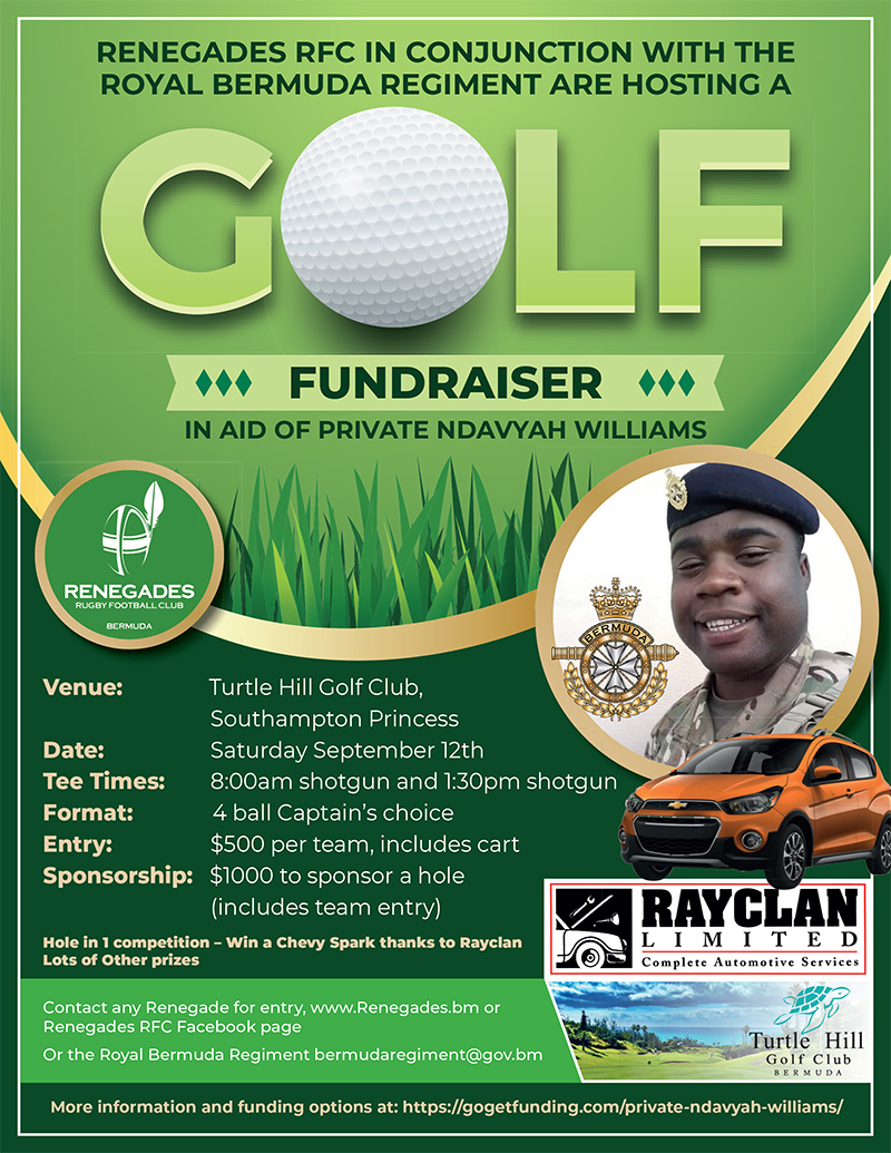 Charity Golf Day For Private Ndavyah Williams Bermuda Aug 2020