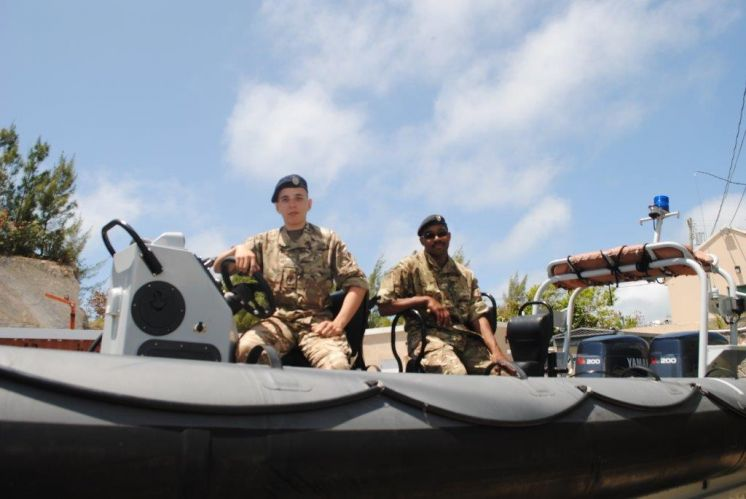 Soldiers Set Sail for Cayman