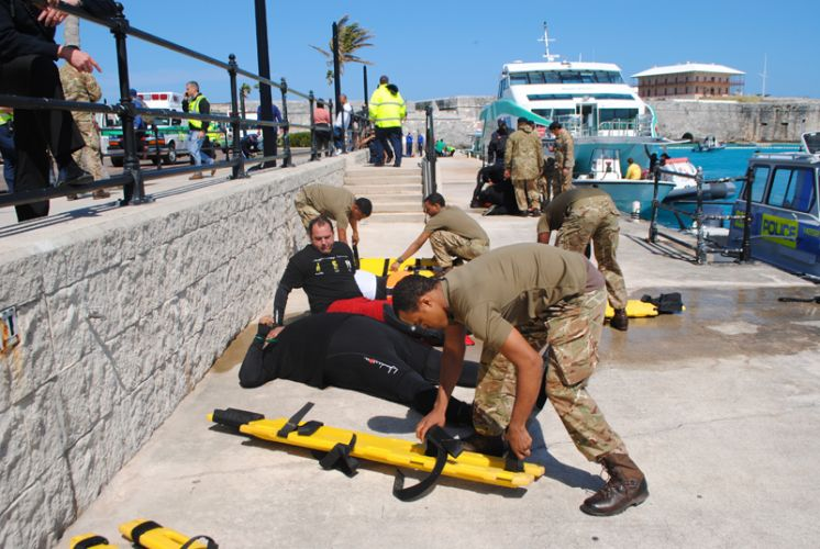 Major Emergency Exercise Held In Dockyard