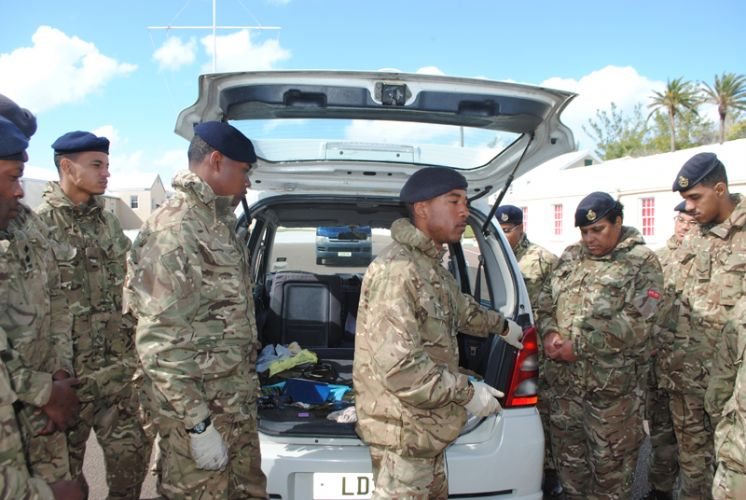 Regiment Soldiers Ready for AC35 Security Role