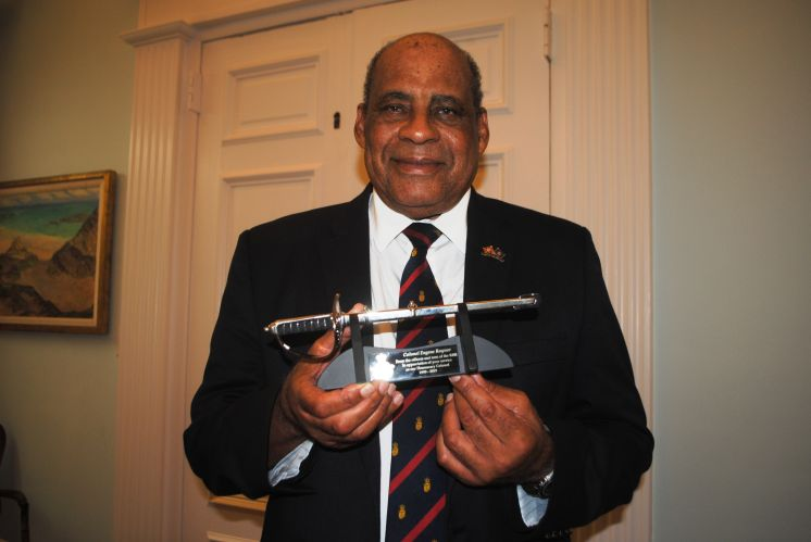 Governor Honours Outgoing RBR Honorary Colonel